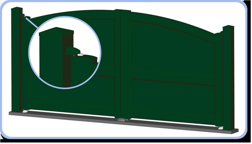 gond portail alu. Black Bedroom Furniture Sets. Home Design Ideas